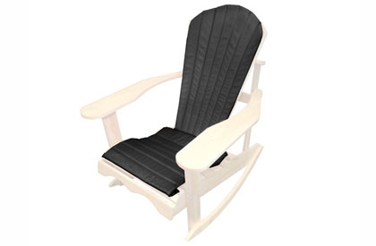 Black Adirondack chair cushion