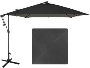 8½ black garden umbrella with O'Bravia fabric by Treasure Garden