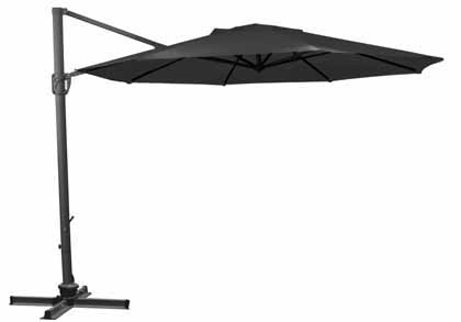 Black Octagonal 335.28 cm (11 foot) Offset Treasure Garden Patio Cantilever Umbrella
