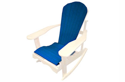 Blue Adirondack chair cushion