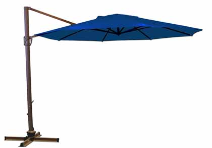Blue Octagonal 335.28 cm (11 foot) Offset Treasure Garden Patio Cantilever Umbrella