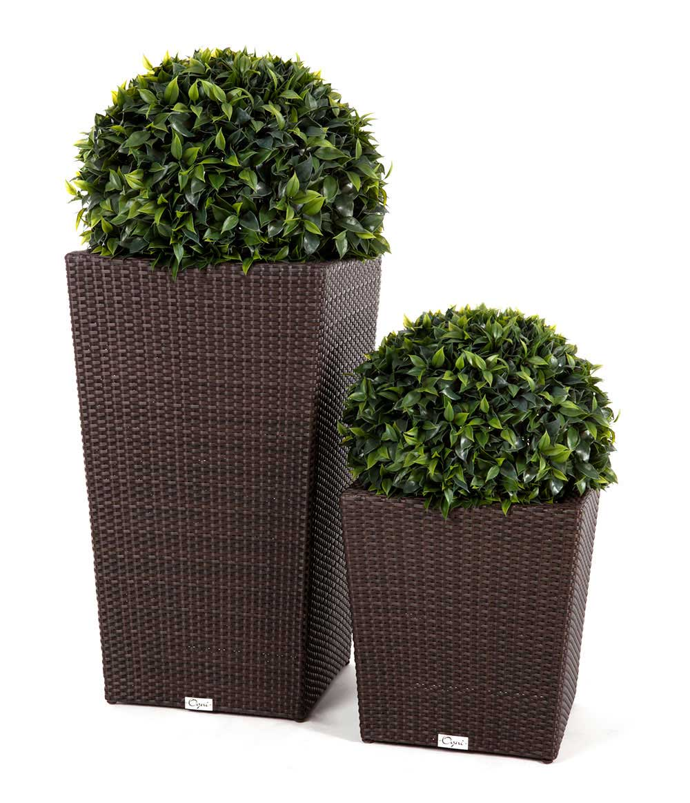 Patio Furniture Sets Modern Wicker Style Tall Flower Pot