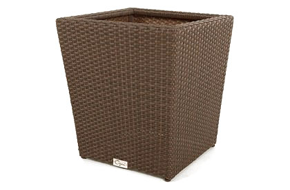 Modern Wicker Style Small Patio Flower Pot