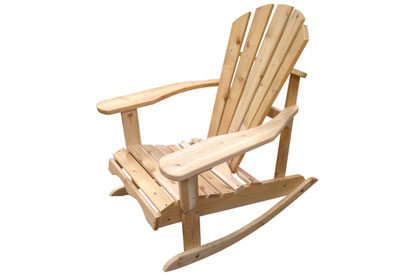 Chaise berçante Adirondack en cèdre blanc fabriquée au Québec