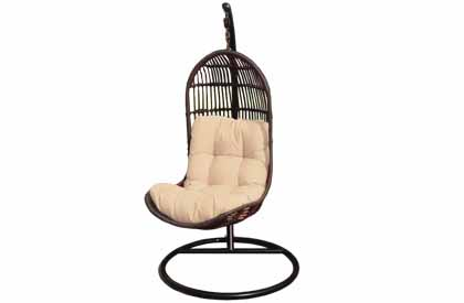 Liberte outdoor hanging swing chair with suspension frame
