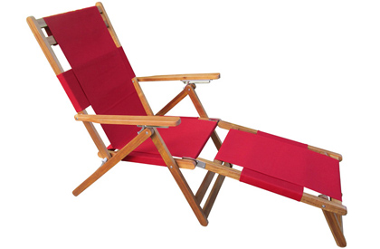 Fiji folding portable wooden long beach lounge chair
