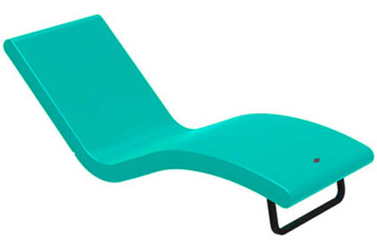 Siesta poly-composite turquoise lounge chair