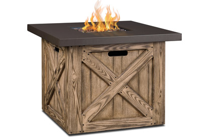 Chambly Barnwood finish Fire Table