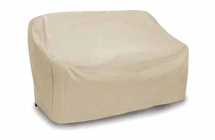 Outdoor love seat protective furniture cover
