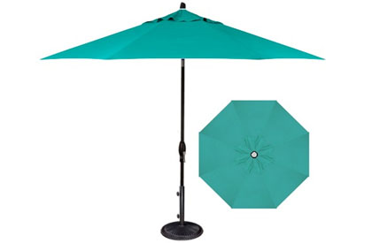 Commercial terrace umbrella in 9 foot Aqua blue fabric