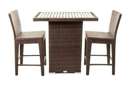 Counter height Condo balcony patio furniture bar table and chair set