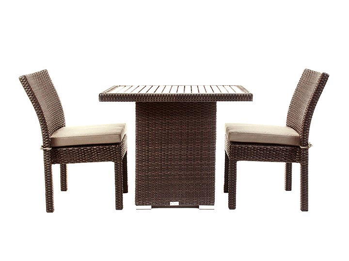 Balcony patio furniture condo outdoor dining table ogni - Ensemble table chaise ...