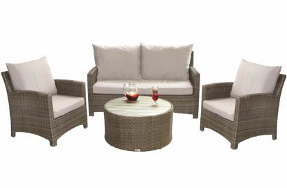 Ensemble de patio sofa et chaises Confort pour extérieur