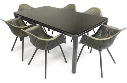 Palermo/Verona7 patio outdoor dining table and chair set