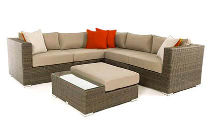 Outdoor Patio Furniture - Liana 6 Piece Modular Sectional Set