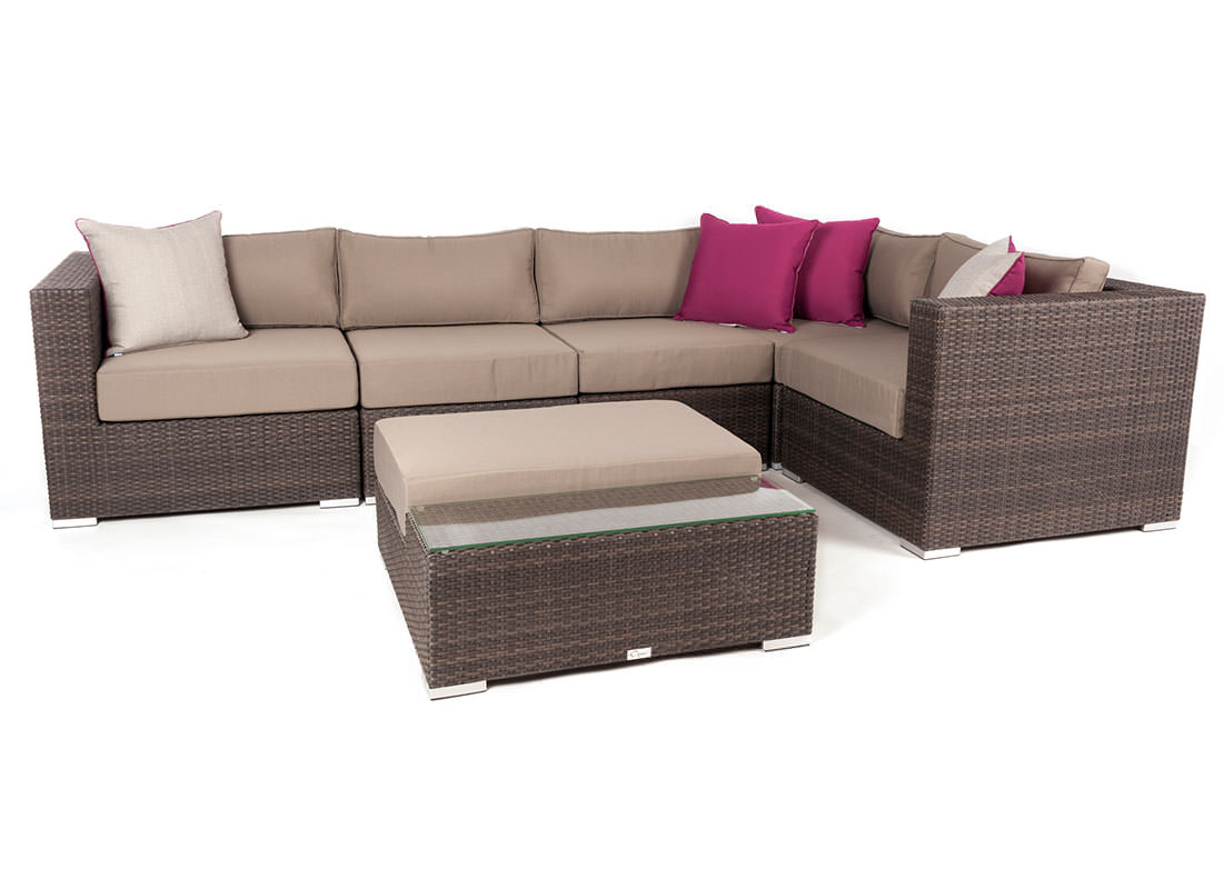 Liana 6 Piece Modular Patio Furniture Sectional Set Ogni