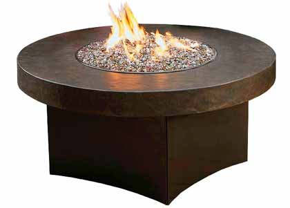 Savana model propane gas fire pit table