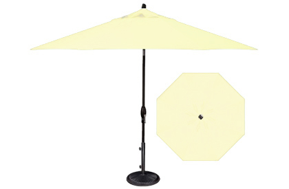 White garden umbrella in popular 9 foot market style design by Treasure Garden