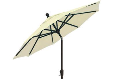 Parasol de jardin blanc coquille 9 pieds Treasure Garden