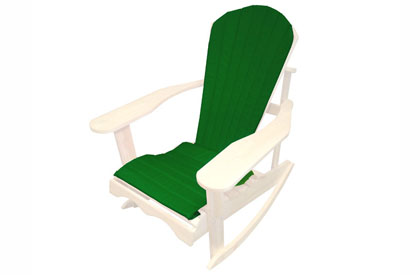 Green Adirondack chair cushion