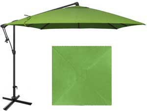 8½ foot green garden umbrella with O'Bravia fabric by Treasure Garden