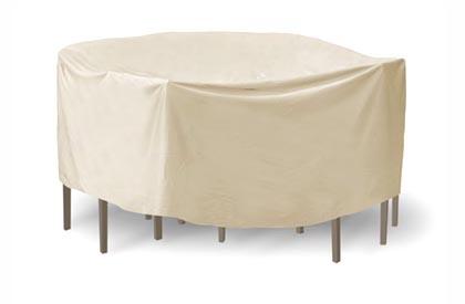 Housse de table de jardin ronde et chaises 54 pouces de diamètre