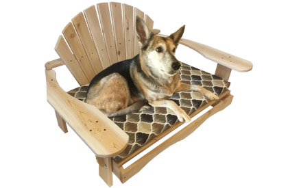 Adirondack Outdoor Dog bed made of Canadian white Cedar