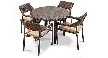 Four place patio Bistro outdoor dining table