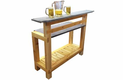Outdoor bar made of Canadian White Cedar