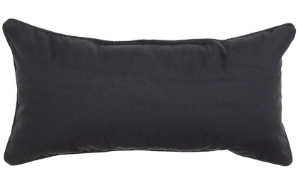 Outdoor Black 12x24in rectangular accent throw pillow