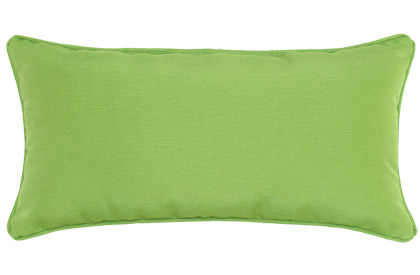 Outdoor Kiwi Green 12x24in rectangular accent throw pillow