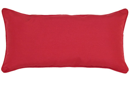 Outdoor Red 12x24in rectangular accent throw pillow