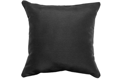 Outdoor Black 18x18in square accent throw pillow