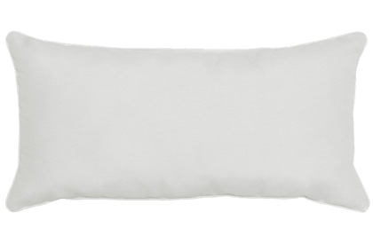 Outdoor White 12x24in rectangular accent throw pillow