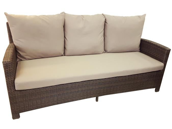 Canap sofa ext rieur 3 places de notre collection patio for Coussin sofa exterieur