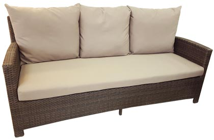 Comfort 3 seat outdoor sofa