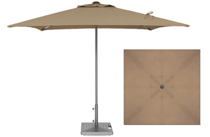 Commercial quality 7 foot Taupe Beige terrace patio umbrella