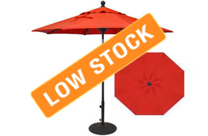 7½ foot red balcony umbrella