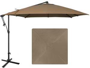Parasol de jardin beige taupe de marque Treasure Garden 8½ carré