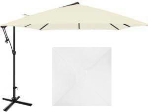 Parasol de jardin blanc Vanille en format 8½ pieds Treasure Garden