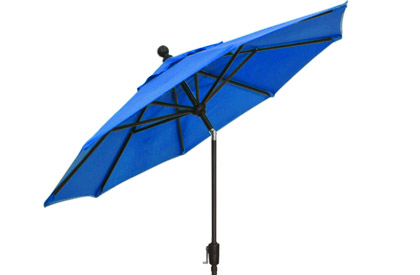 Cobalt Blue 9 foot octagonal patio umbrella with vented top