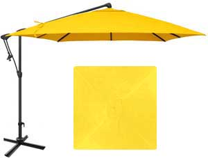 8½ foot size yellow garden umbrella with O'Bravia fabric by Treasure Garden