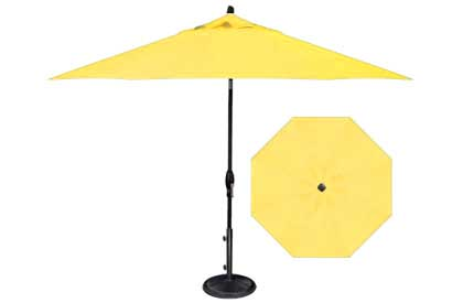 Yellow 9 foot popular octagonal market style garden umbrella