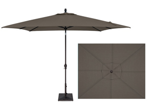 Grey 8 x 10 foot market style rectangular patio umbrella by Treasure Garden