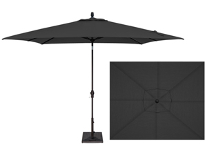 Black 8 x 10 foot market style rectangular patio umbrella by Treasure Garden