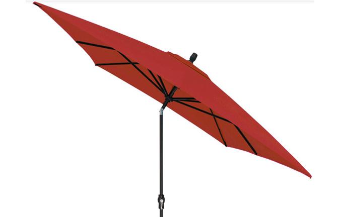 Parasol de jardin rectangulaire 8 x 10 pieds rouge Treasure Garden