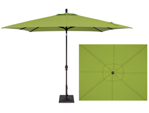 Kiwi Lime green 8 x 10 foot market style rectangular patio umbrella by Treasure Garden