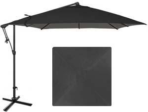 Parasol de jardin noir carré de 8½ de marque Treasure Garden