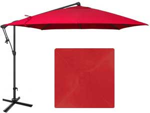 8½ red garden umbrella with O'Bravia fabric by Treasure Garden
