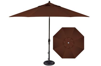 Parasol de jardin brun 9 pieds